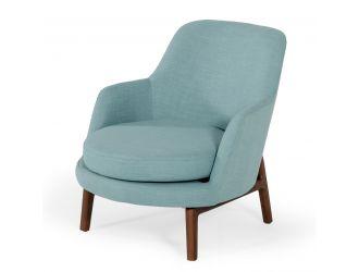 Modrest Metzler - Modern Mint Green Fabric Accent Chair
