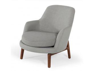 Modrest Metzler - Modern Grey Fabric Accent Chair