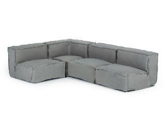 Divani Casa Navstar - Contemporary Grey Fabric Modular Sectional Sofa