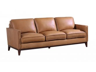 Divani Casa Naylor - Modern Brown Italian Leather Split Sofa