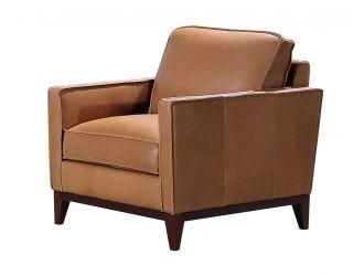 Divani Casa Naylor - Modern Brown Italian Leather Split Chair