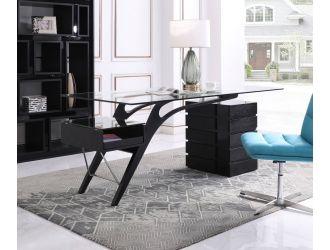 Modrest Suffolk - Contemporary Black Ash Desk