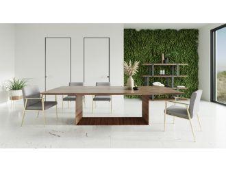 Modrest Channa - Modern Walnut Dining Table