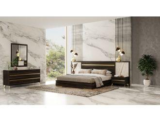 Nova Domus Velondra - Modern Eucalypto + Marble Bedroom Set
