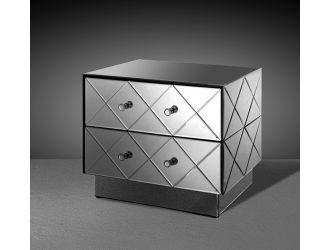 Segovia Modern Mirrored Bedroom Furniture Nightstand