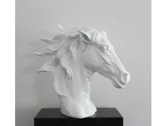 SZ0002 Modern White Horse Head Sculpture