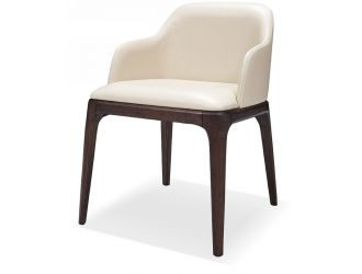Margot Modern Cream Eco-Leather Dining Chair