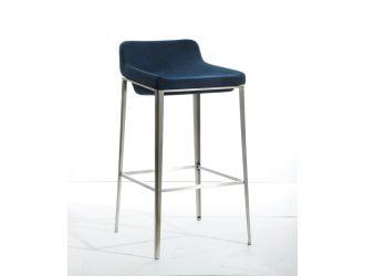 Modrest Adhil Mid-Century Blue Fabric Bar Stool