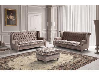 Estro Salotti Adam Modern Grey Fabric Sofa Set