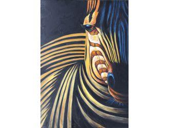 ADC7197 Modern Zebra Oil Painting