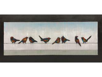 "Modrest 55"" x 28"" Birds Oil Painting"
