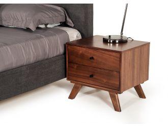 Modrest Addison Mid-Century Modern Walnut Nightstand