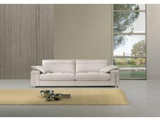 Estro Salotti Alterego Modern White Leather Sofa Set
