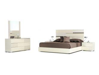 Modrest Ancona Italian Modern Beige Bedroom Set