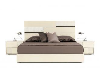 Modrest Ancona Italian Modern Beige Bed