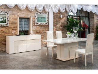 Modrest Ancona Modern Beige Dining Set