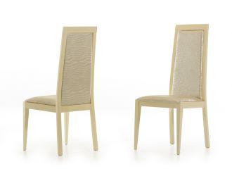 Ancona Modern Beige Crocodile Eco-Leather Dining Chair (Set of 2)