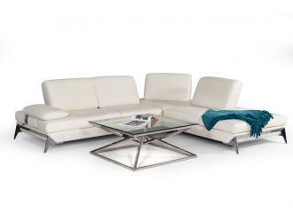Nova Domus Andrea Modern White Leather Sectional Sofa