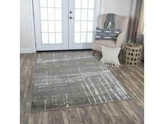 Kaaleen Artistry Contemporary Gray 5' x 8' Rug