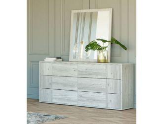 Nova Domus Asus - Modern Italian Dresser & Mirror Set