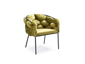 Modrest Debra Modern Green Fabric Dining Chair