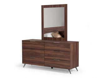 Nova Domus Brooklyn Italian Modern Walnut Mirror