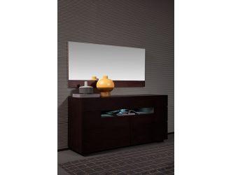 Modrest Ceres - Modern Brown Oak Bedroom Mirror