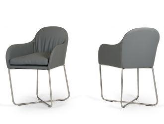 Modrest Sweeny Modern Grey Dining Chair