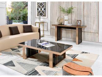 Nova Domus Cartier Modern Black & Rosegold Coffee Table