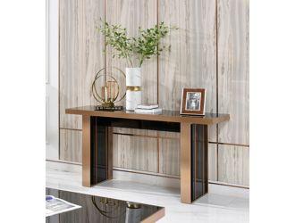 Nova Domus Cartier Modern Black & Rosegold Console Table