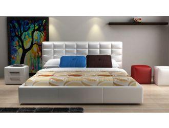 Modrest D531 Modern White Bonded Leather Bed