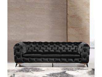 Divani Casa Delilah - Modern Black Fabric Sofa