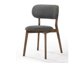 Modrest Donald - Modern Dark Grey & Walnut Dining Chair (Set of 2)