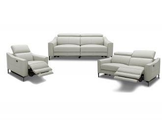 Divani Casa Eden - Modern Grey Leather Sofa Set