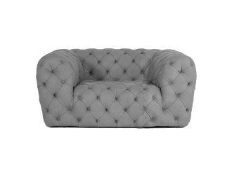 Coronelli Collezioni Ellington - Italian Grey Nubuck Leather Accent Chair