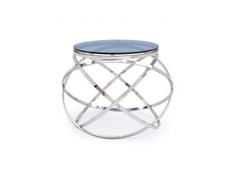 Modrest Tulare Contemporary Smoked Glass End Table