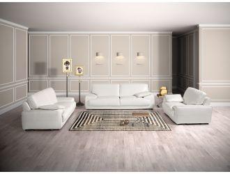 Estro Salotti Evita Modern White Italian Leather Sofa Set
