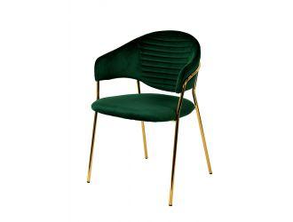 Modrest Trevor Modern Green Velvet & Gold Dining Chair (Set of 2)