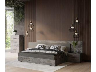 Nova Domus Ferrara - Modern Volcano Oxide Grey Bed