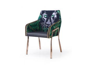 Modrest Fierce - Black & Rosgold Panther Dining Chair