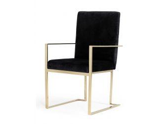 Modrest Fowler - Modern Black Velvet Dining Chair