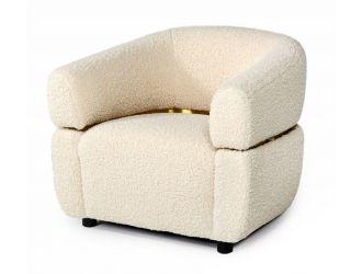 Divani Casa Gannet - Glam Beige Fabric Chair