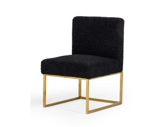 Modrest Garvin - Glam Black and Gold Fabric Accent Chair