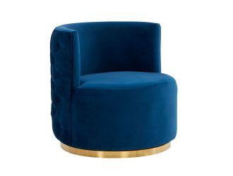 Modrest Gary -  Modern Blue Fabric Accent Chair
