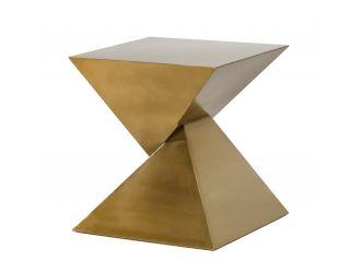Modrest Hadler - Glam Brushed Gold Metallic End Table