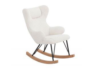 Modrest Hamlin - Modern White Fabric Kids Rocking Chair