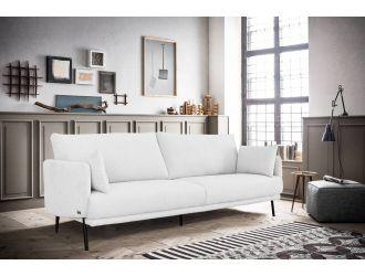Divani Casa Higgins - Modern White Fabric Loveseat