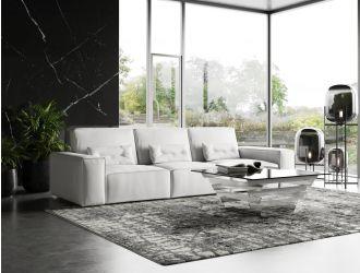 Coronelli Collezioni Hollywood - Italian White Leather Sectional Sofa
