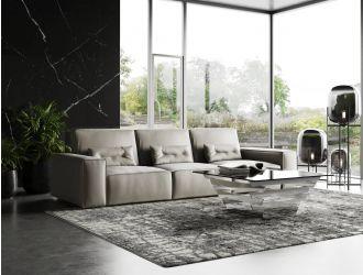 Coronelli Collezioni Hollywood - Italian Grey Leather Sectional Sofa