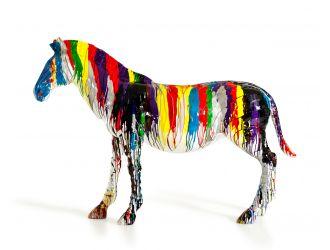 Modrest Large Rainbow Zebra Sculpture